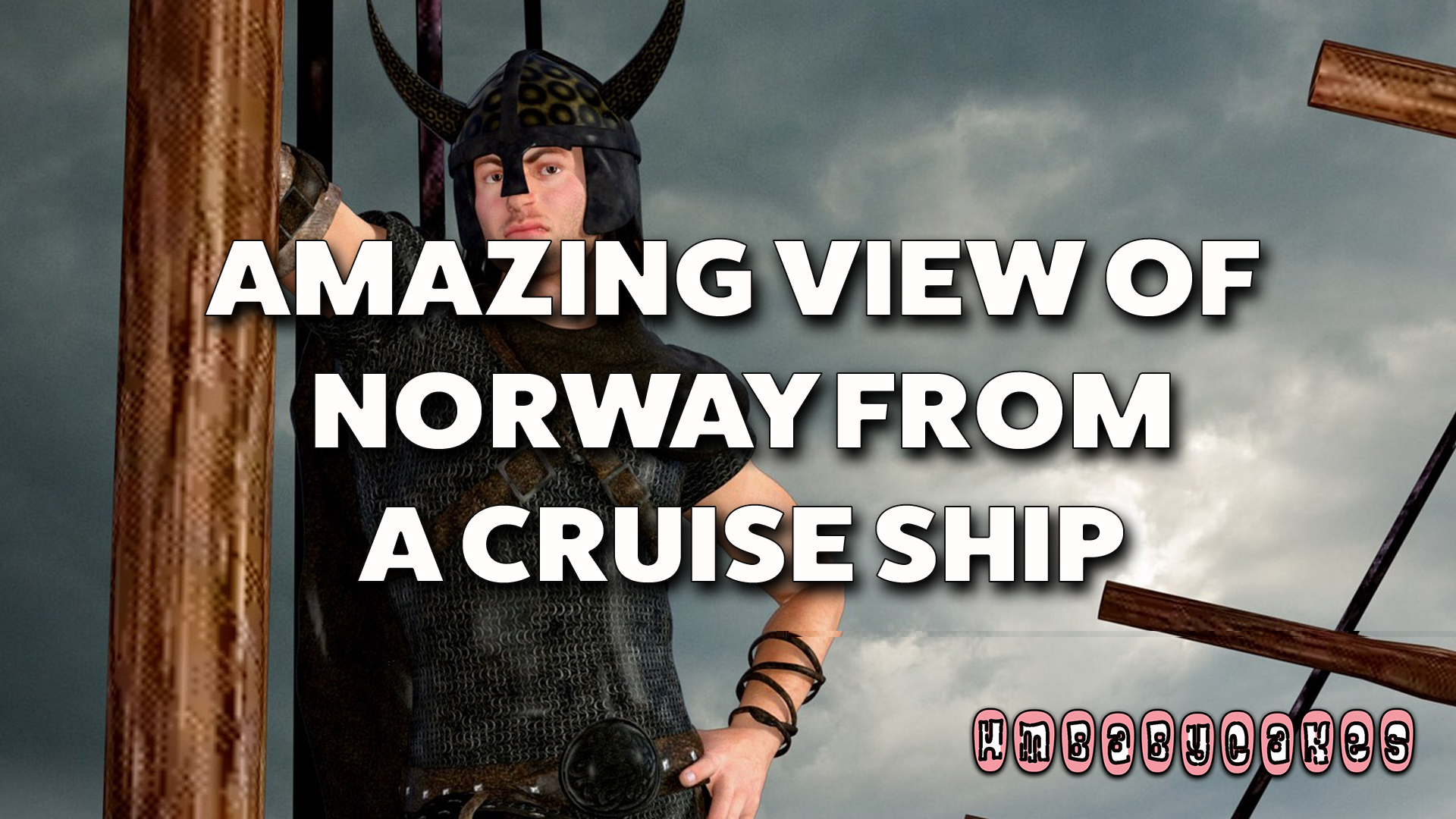 Amazing view of Norwegian fjords from a cruise ship